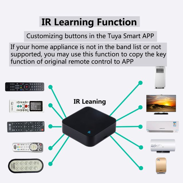 IR Remote Control Smart wifi Universal Infrared Tuya for smart home Control for TV DVD AUD AC Works with Amz Alexa Google Home 6