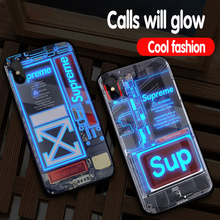Luxury Creative Luminous Tempered Glass Phone Case for