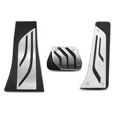 Del acelerador de freno cubierta para apoyapiés LHD de acero inoxidable coche Pedal para BMW X5 X6 F15 F16 E70 E71 E72 2008 - 2018