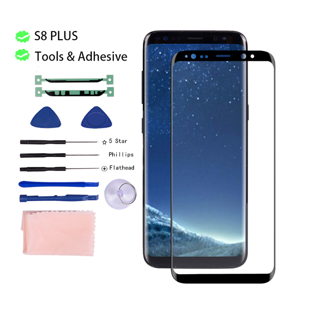 OLED <font><b>Glass</b></font> Repair Kit Compatible for <font><b>Samsung</b></font> <font><b>Galaxy</b></font> <font><b>S8</b></font>/<font><b>S8</b></font> Plus Front <font><b>Glass</b></font> Screen Lens Cover <font><b>Replacement</b></font> Repair Kit 19Sep09 image