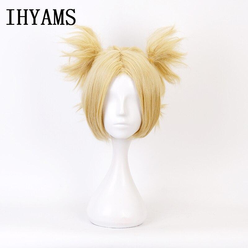 Naruto Temari Blonde Synthetic Hair Styled Heat Resistance Cosplay Wig + Wig Cap