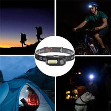 Mini Super Bright Head Light LED Headlamp Outdoor camping USB charging Hiking Night Fishing headlights flashlight