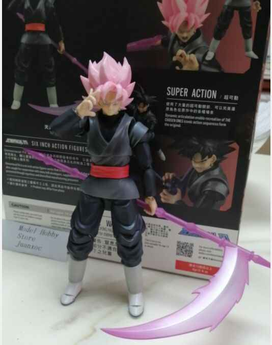 In Magazzino Demoniacal Fit Goku Black Rose Zamasu Dragon Ball Z in Pvc Action Figure Dbz Brinquedos
