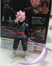 Em estoque demoniacal apto goku preto rosa zamasu pvc figura de ação dbz brinquedos