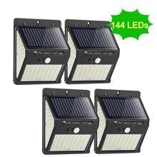150 100 1/2/4*LED Solar Light Outdoor Solar Lamp Sunlight Street Light for Garden Decoration PIR Motion Sensor Solar Powered