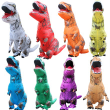 Hot Adult Cosplay  Costume Inflatable Dinosaur Costume T-REX Dinosaur Halloween Costume For Men Women Party Costume Suit Clothin kidstime adult fantasy t rex inflatable costume halloween cosplay rex costumes dinosaur costume party fancy dress for men women