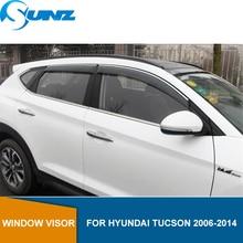 Window Visor for HYUNDAI TUCSON 2006-2014 side window deflectors rain guards for HYUNDAI TUCSON 2006-2014 SUNZ