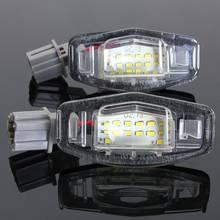 2 pièces LED Numéro De Plaque D'immatriculation Lumière Pour Acura MDX RL TL TSX ILX Pour Honda Civic Accord Odyssey