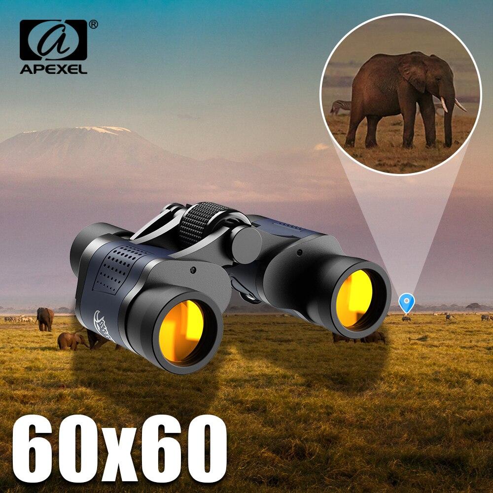 APEXEL yüksek çözünürlüklü teleskop 60X60 dürbün 16000M yüksek büyütme açık avcılık için optik gece görüş dürbün