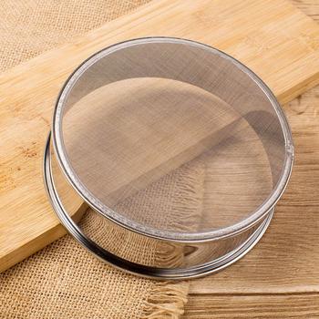 Akcesoria narzędzia kuchenne sito kuchenne do mąki herbata makaron sitko tamis mąki siatki ryż ciasto naczynia siatka ze stali nierdzewnej tanie i dobre opinie CN (pochodzenie) Ekologiczne Colanders i filtry STAINLESS STEEL MFS-01 CE UE tools pastry pasta tools Sieve for flour Mesh strainer