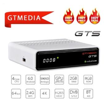 ccam IPTV GTmedia GTS Android 6.0 TV BOX+DVB-S/S2 Smart TV BOX Built-In WiFi HD 4K Remote Control Satellite Receiver Set Top Box