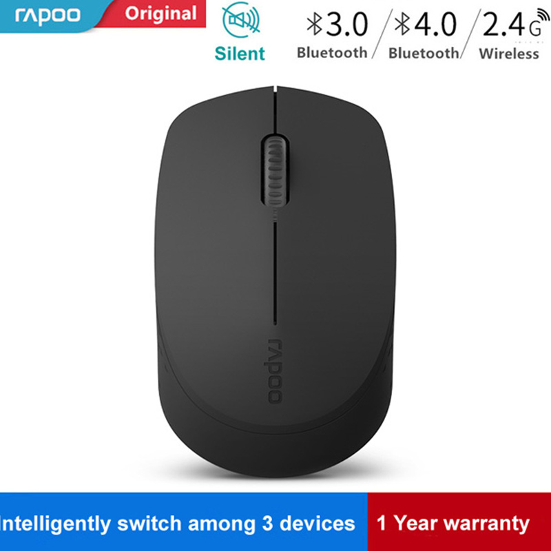 New Rapoo Silent Wireless Optical Mouse with Bluetooth 3.0/4.0 RF 2.4G Mute Mini Noiseless Mice for Windows PC Laptop Computer|Mice|   - title=