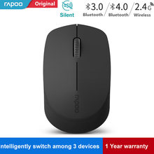 Baru Rapoo Silent Mouse Optik Nirkabel dengan Bluetooth 3.0/4.0 RF 2.4G Bisu Mini Bersuara Mouse untuk Windows PC Laptop Komputer(China)