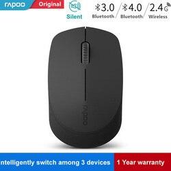 Nowa bezprzewodowa mysz optyczna Rapoo Silent z Bluetooth 3.0/4.0 RF 2.4G Mute Mini bezgłośna mysz dla Windows PC laptop