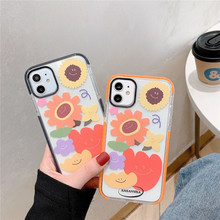 Sun flower phone case for iphone 11 pro max X Xs max XR 7 8 plus silicon soft tpu silicone painting cases cover 8plus coque plating tpu phone case for iphone 11 pro max 6 7 8plus xs max xr soft silicone upscale phone cases mobile phone accessories
