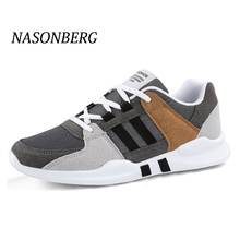 NASONBERG Breathable Mesh Men Casual Shoes Lac-up Men Shoes Lightweight Comfortable Breathable Walking Sneakers Fashion цены онлайн