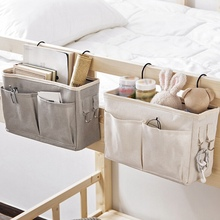 Hanging Bedside Storage Bag Dorm Room Sundries Storage Bag Holder with Hook Bed Pocket Home Supplies