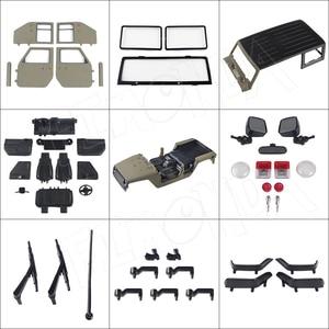 Image 2 - Jeep wrangler jk rubicon 4 portas, kit de concha de corpo rígido, 1/10mm, base de rodas para carros, axial scx10 90046 90047 rgt ex86100