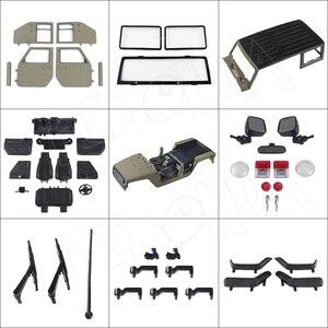 Image 2 - RC 1/10 Jeep Wrangler JK Rubicon 4 Kapı Sert Vücut Shell Kiti 313mm Dingil Mesafesi Paletli Arabalar Eksenel SCX10 90046 90047 RGT EX86100