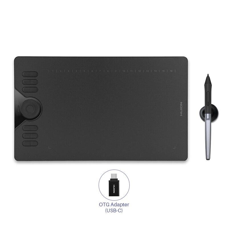 HUION HS610 Графика рисунок Планшеты цифровой Батарея-Бесплатная ручка планшет Android, телефон планшет с функцией наклона OTG USB флэш накопитель для ...
