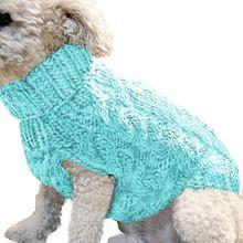 Новинка; сезон осень-зима; теплые мягкие свитера с воротником под горло для домашних животных; модные повседневные теплые вязаные пуловеры для домашних животных; размеры xs-l 8A1515