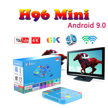 Top-Box media Player smart tv set top box H96 MINI Allwinner H6 Quad Core Android 9.0 4GB RAM 128GB ROM X96mini boxing