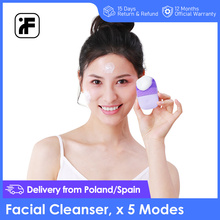 שדרוג גרסה InFace פנים ניקוי מברשת חשמלי סוניק פנים מברשת עמוק ניקוי IPX7 עמיד למים 5 ניקוי מצבים