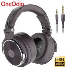 Auriculares estéreo con cable Oneodio, auriculares profesionales para DJ de estudio con micrófono sobre la oreja, auriculares de estudio con graves