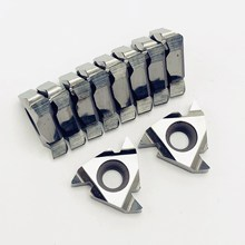 10PCS Aluminum alloy tool16IR AG60 H01 high quality aluminum alloy threaded blade CNC machine tools blade metal turning tool high quality aluminum alloy no flange 64teeth htd8m pulley