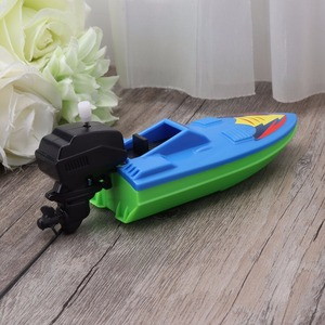 Image 5 - 1pcs Baby Bath Toy Kids Wind Up Clockwork Boat Ship Dabbling Toys Water Play Bathroom Bathing Toy for Children Random Color