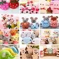 40 шт./лот на выбор-кошка пижамы для малыша, кролик и т. д. Мягкая Плюшевая игрушечная кукла 4 см; Веревочные игрушки, аксессуары, куклы