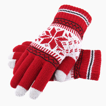 Fashion New Arrival Warm Thick Winter Gloves Wool Knitted Wo