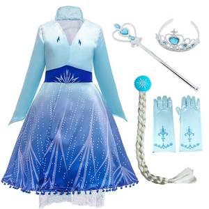 Image 3 - Женский костюм «Снежная Королева», маскарадное вечернее платье королевы Эльзы, сестры принцессы Анны, для девочек