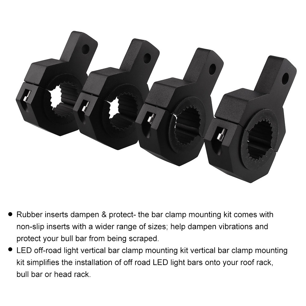 4Pcs Universal Replacement Mounting Bracket Aluminum Alloy Light Fixing Motorcycle Easy Install Bar Clamp Cage Holder Direct Fit