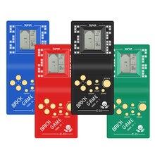 클래식 어린 시절 테트리스 핸드 2.7 lcd 전자 게임 완구 포켓 게임 콘솔 핸드 헬드 게임 플레이어 개최