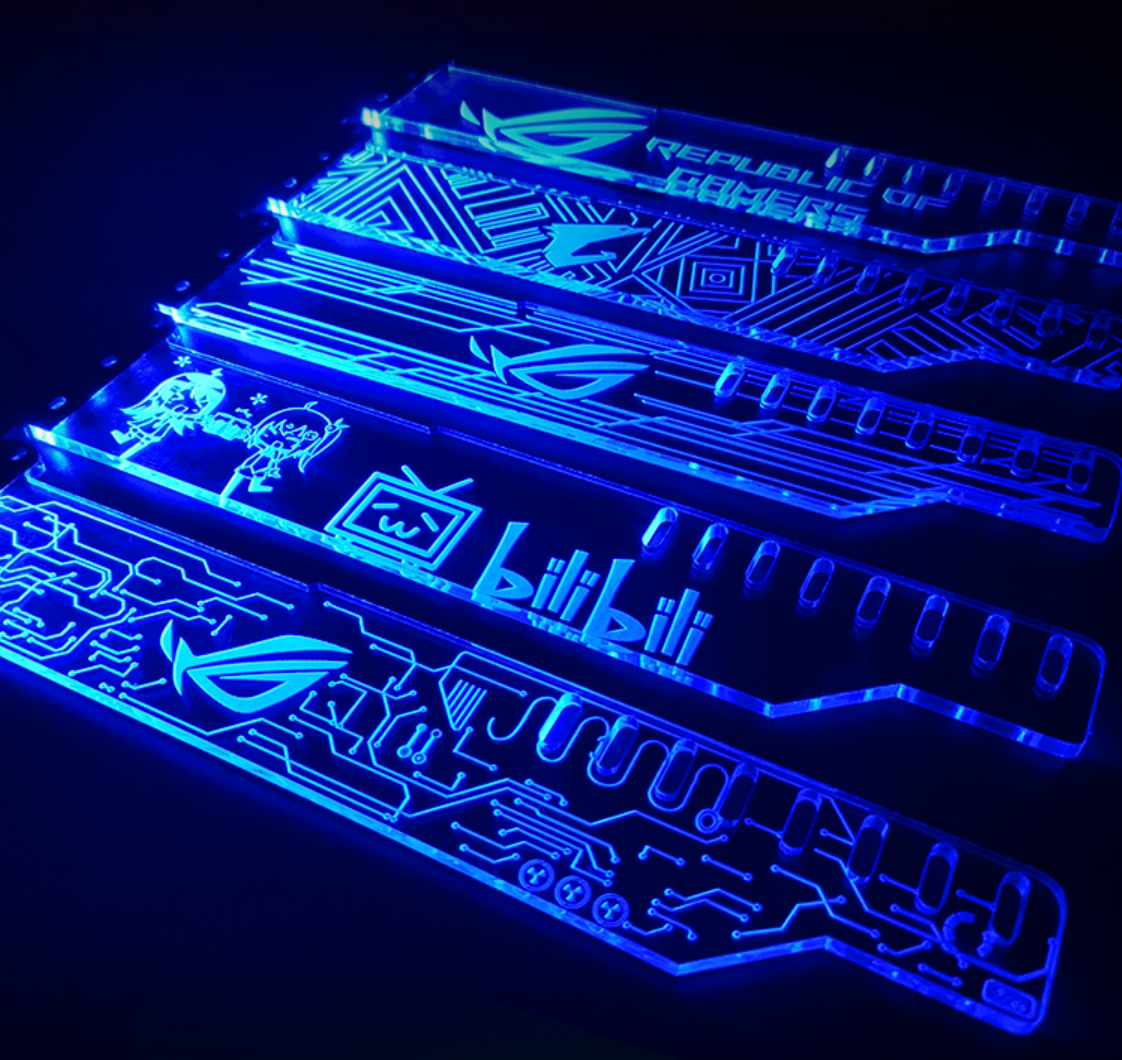 Acrylic Bracket use for Brace GPU Card Size 280*45*6mm use for Fix Video Card
