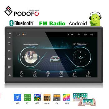 Podofo 2din Radio samochodowe android odtwarzacz multimedialny Autoradio 2 Din 7 #8221 ekran dotykowy GPS Bluetooth FM WIFI samochodowy odtwarzacz audio stereo tanie i dobre opinie Metal + plastic 1024*600 0 96kg Tuner radiowy 178mm*102mm CK1018S W desce rozdzielczej Angielski 4*45W 87 5-108MHz 12 v