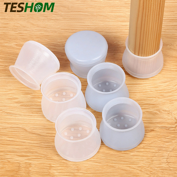 4pcs/Set Thicken Non-Slip Silicone Mat For Table Chairs Foot Protection Pads Furniture Floor Mute Accessories - discount item  40% OFF Furniture Parts