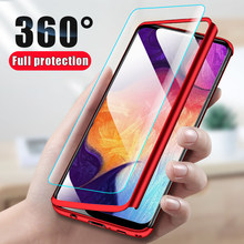 360 Case For Samsung Galaxy A50 A70 A10 A20 A30 A40 A60 A7 2018 Note 10 pro M10 M20 M30 S6 S7 edge S8 S9 S10E S10 Plus Cover Bag(China)