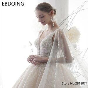 Image 4 - Sang Trọng Bầu Áo Cưới Vestidos De Novia Hoàng Gia Tàu Mới Nhất Dài Plus Kích Thước Cô Dâu Đầm Váy Cưới Cô Dâu Đầm