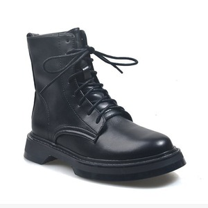 Boots Leather Women Ankle Boots Motocycle Boots Female Shoes Autumn Lace Up Winter Motorcycle Boots 2020 New British Style