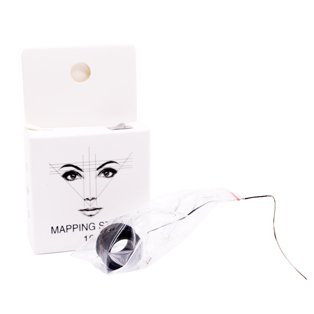 New 10m Microblading MAPPING STRING Pre-Inked Eyebrow Marker Thread Tattoo Brows Point Pre Inked Tattoo PMU String for Mapping 4