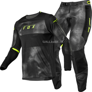 2020 The New One Delicate Fox Dirt 360 Haiz Jersey & Pant Combo Kits Black UTV ATV MX Bike Gear Set Motocross Motorbike Suit