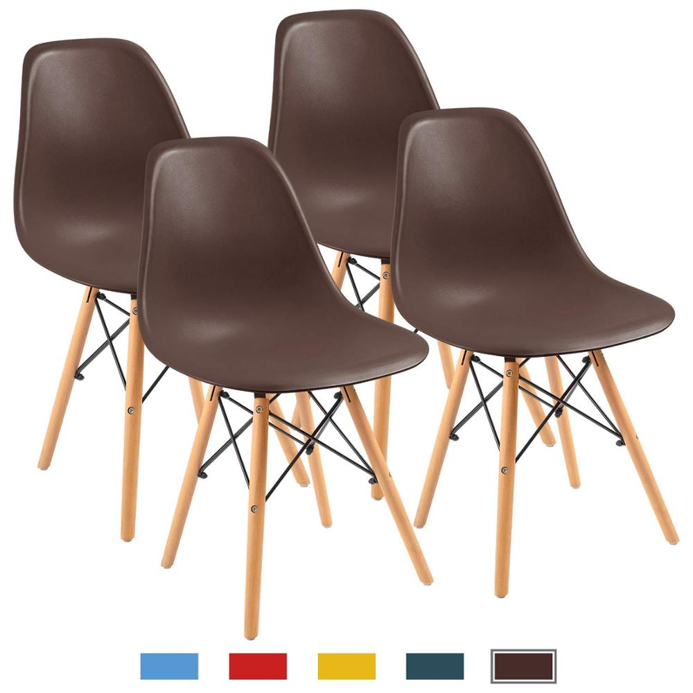 Nordic INS School Chairs, Modern Simple Plastic Chair For Kitchen,Dining, Bedroom,Study,Living Room Office Chairs 4 Pcs