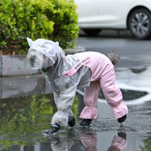 Ropa impermeable para perro mascota HOOPET, mono impermeable para la lluvia para perros pequeños, ropa para perros al aire libre, abrigo para mascotas, suministros para mascotas
