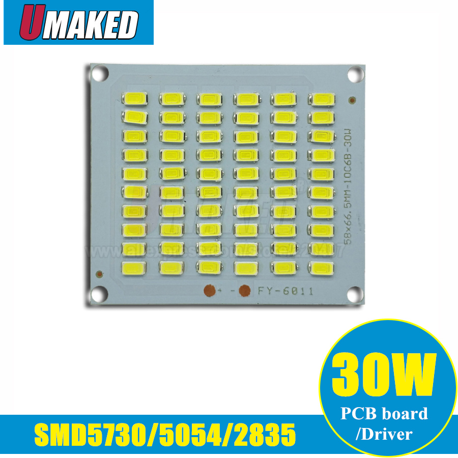 30W LED Floodlight PCB board SMD5054/2835/5730 led aluminum plate base, lamp source for led floodlight Outdoor light