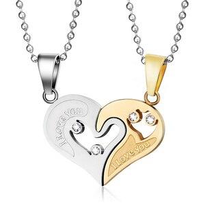 1 pair Fashion Couple Heart Sh