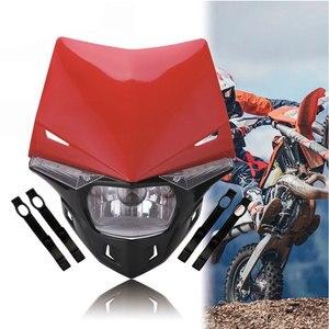 Image 5 - אוניברסלי S2 12V 35W אוניברסלי אופנוע פנס ראש מנורת Led אורות ושמשה קדמית עפר בור אופני טרקטורונים