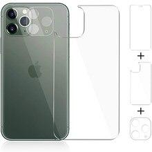 Funda completa de vidrio templado para lente de cámara, Protector de pantalla trasera para iPhone 11 Pro Max 11Pro, película protectora