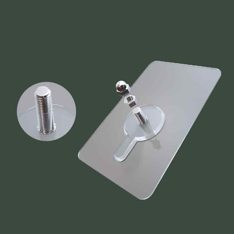 Strona główna ściana urządzenie z darmowym przepychaczem hak przechowywanie uchwyt na półkę śruba bez śladu naklejki montaż ścienny bez szwu śruba hak wieszak
